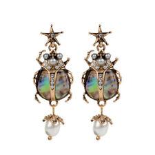 Retro Punk Star Skull Jewelry Insect Earrings Dangle Ear Stud Pearl