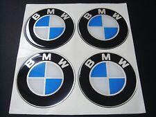 4 x 60mm BMW Silikon Emblem Felgen Aufkleber Nabendeckel Nabenkappen
