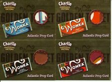 Charlie and the Chocolate Factory Golden Ticket Retail prop 4 card set