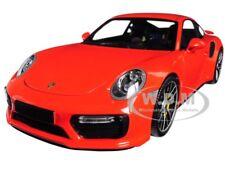 2016 PORSCHE 911 TURBO S ORANGE LTD ED 504 PCS 1/18 DIECAST MINICHAMPS 110067120