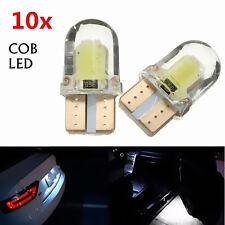 10PCS T10 W5W COB 8SMD LED de bus CAN de sílice blanca Bombilla Licencia 194