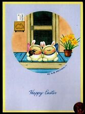 Easter Mary Melcher Teddy Bears In Bunny Rabbit Costumes Easter Greeting Card