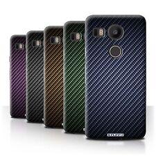 STUFF4 Back Case/Cover/Skin for LG Nexus 5X/Carbon Fibre Effect/Pattern