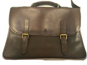 Chocolate Brown Elkington briefcase Laptop leather Bag Satchel