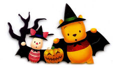 "3X2"" POOH Bear IRON On TRANSFER Decor Heat Vinyl Piglet Halloween friend pumpkin"