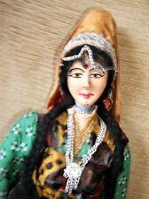 """Muñeca Vintage Traje inusual Cabeza De Indio dama conjunta brazos 15"""" Pintado A Mano"""