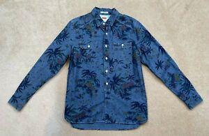 Levis Shirt - Size Medium Tropical Palms Blue