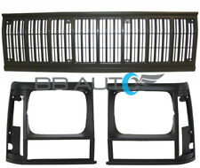 3pc NEW Front Bumper Grille Black Headlight Bezels fits 1991-1996 JEEP Cherokee