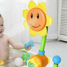 New Baby Bath Toy Children Sunflower Spray Water Shower Tub Faucet Kids Bathroom