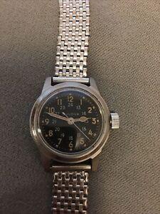 Vintage men's Bulova military watch