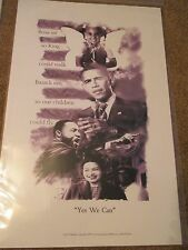 """BARACK OBAMA 11"""" x 17"""" Poster 'YES WE CAN"""" Martin Luther King Rosa Parks NEW"""