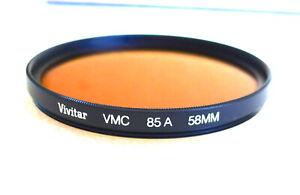 58mm VIVITAR (Tiffen) VMC 85A Filter - Multi Coated Warming CC - NEW