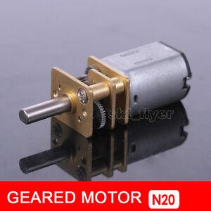DC 12V 400RPM Metal Gear DC Motor with Gearwheel Model: N20 10mm Shaft Aircraft