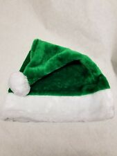 Adult Green Plush Santa Hat Christmas Holiday Costume Party Elf Xmas New Festive