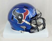 Deshaun Watson Autographed Houston Texans Chrome Mini Helmet - JSA Auth *White