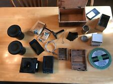 Lot of vintage large format film camera accessories