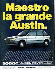 PUBLICITE ADVERTISING 0217  1984  Austin Rover  la Maestro hls