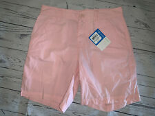 NWT $35 COLUMBIA Men's Birch Forest Pink Cotton SHORTS Size 30 ~ NEW