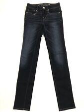 American Eagle Women's Blue Jeans Size 00 Skinny Slim Stretch Dark Wash
