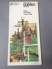 Vintage 1980's Region of Quebec Tourist Map