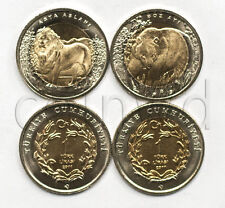 TURKEY 2 ANIMALS COINS SET 2011 LION BEAR UNC (#689)