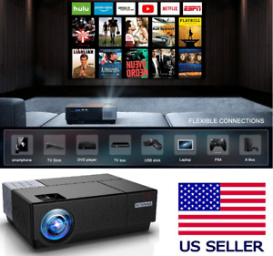 300'' 8000L Lumens Wifi 4K HD 1080P Home Theater Projector HDMI for PC PS4 TV