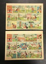 Lot Vintage 1950's Walt Disney Newspaper Comics Strip Mickey Mouse Goofy Rare