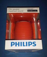 Philips SBA3010ORG/00 Soundshooter Rechargeable Portable Speaker ORANGE