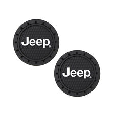 Jeep Logo Auto Cup Holder Coaster 2 PC Set Item