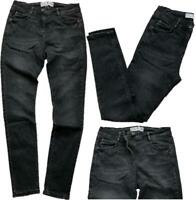 NEW In! NEXT Ladies WASHED BLACK Cotton Rich Mid Rise Skinny Jeans 6-18 R L XL P