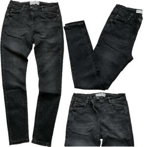NEXT Womens WASHED BLACK Cotton Rich Mid Rise Skinny Jeans 6-18 CLEARANCE £9.95