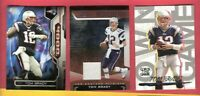 TOM BRADY GAME USED JERSEY + 2008 OWN THE GAME INSERT & 2015 TOPPS INSERT CARD