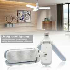 E27 Folding Garage Light Three-Leaf Fan Blade LED Light Home Ceiling Lights US