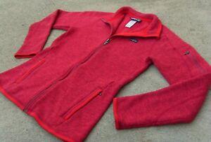PATAGONIA Better Sweater full zip Fleece Jacket women's Sz Small Maraschino red