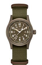 New Hamilton Khaki Field Mechanical Brown Dial NATO Strap Men's Watch H69449961