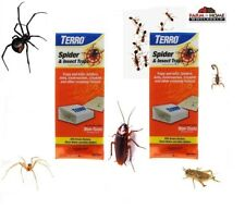 8 Terro Spider & Insect Trap Non-Toxic Glue Traps ~ New