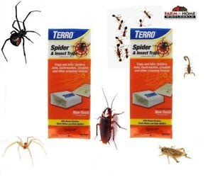 8 Terro Spider & Insect Trap Non-Toxic Glue Traps ~ New