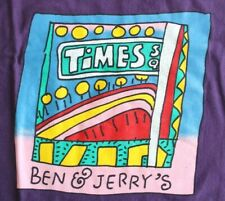 Ben & Jerry's Ice Cream Times Square T-Shirt Purple Excellent Condition XL