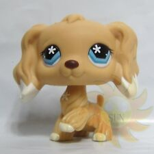 Littlest Pet Shop LPS Figure Toys Tan Cocker Spaniel #748 Flower Star Eyes Dog