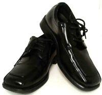 Deer Stags Motivation Youth Boys Sz 2M Tie Up Comfort Footwear Dress Shoe Black