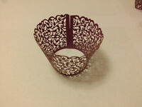Filigree Vine Cupcake Wrappers Wraps Collars Cups Birthday, Wedding, Baby Shower