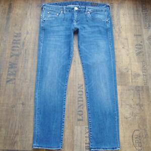 HERRLICHER Skinny W29 L28 Damenjeans blau hüftig slim Stretch Denim Jeans 29/28
