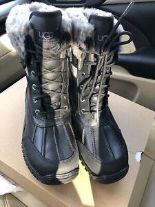 UGG Womens W Adirondack III Snow Boot Black Size 9 M US ❤️❤️❤️
