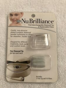 NuBrilliance Fine Interchangeable Diamond Tip 1 & Replaceable Filters 10 New