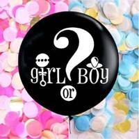 """36"""" Gender Reveal Confetti Balloon Baby Girl Pink Or Boy Blue Baby Shower Decor"""