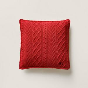 Ralph Lauren Highland Knit Throw Pillow Martin Red Cable Knit Brand NEW