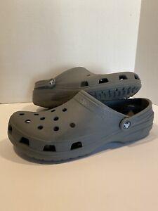 Crocs Classic All-Terrain Comfort Slip On Roomy Clogs Gray Men's Size 14