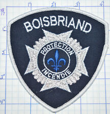CANADA, BOISBRIAND PROTECTION INCENDIE FIRE DEPT PATCH