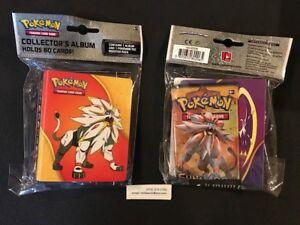 NEW Pokemon SUN & MOON Salgaleo & Lunala Mini 60 Card album binder +  PACK
