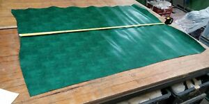 GREEN Two Tone Snake Pattern PU Coated Leather Panel 2.2mm Thickness LOT 2183